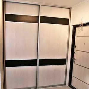 Встроенные шкафы-купе на заказ 2 двери